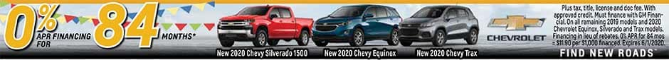 0% APR for 84 Months Chevy 2020 Equinox/Silverado 1500/Trax