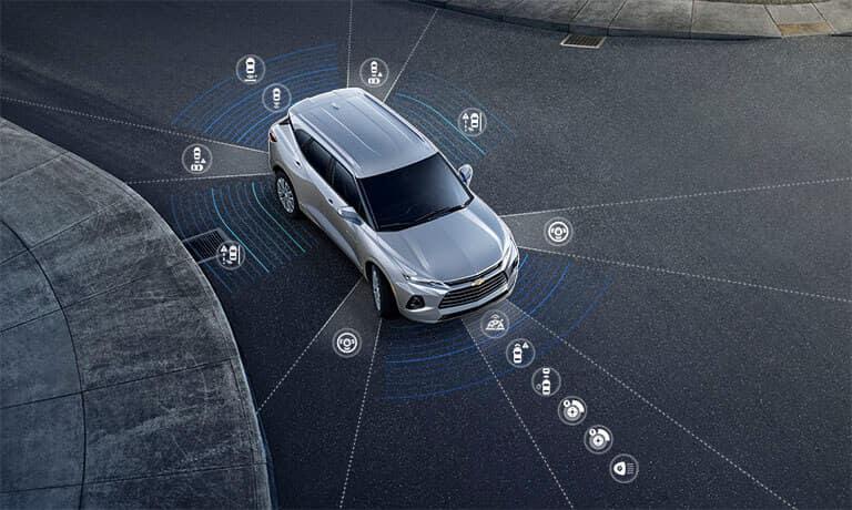 2021 Chevy Blazer exterior safety sensors