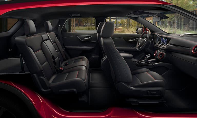2021 Chevy Blazer interior side cutaway view of seating