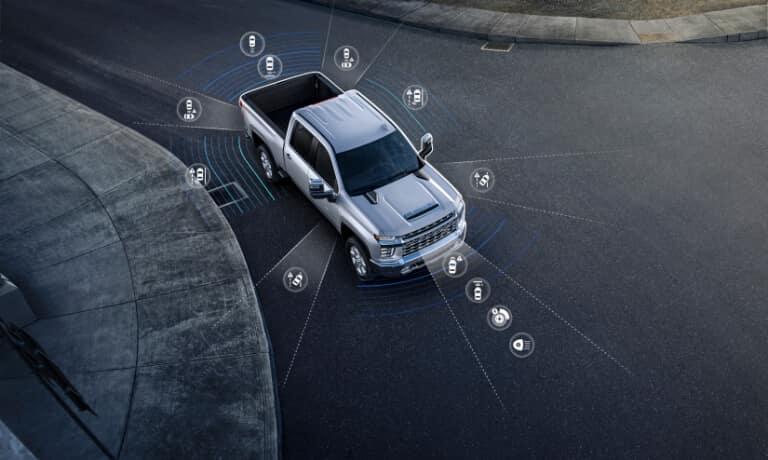 2021 Chevy Silverado 2500 exterior safety sensors