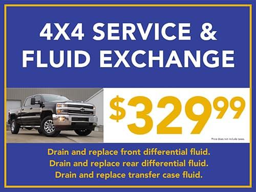4x4 Service & Fluid Exchange
