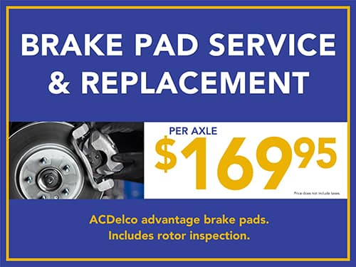 Brake Pad Service and Replacement