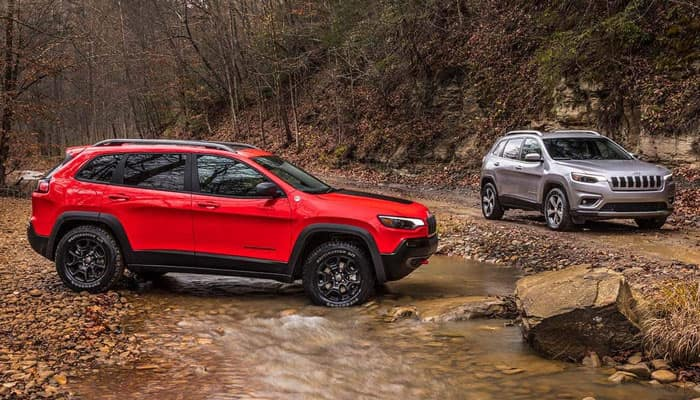 2019 Jeep Cherokee Parked Outdoors