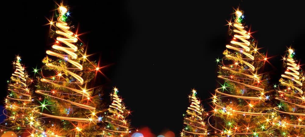 Christmas tree-shaped light design