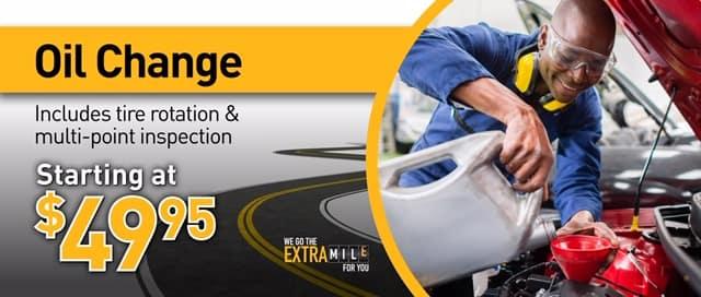 July oil change service ad