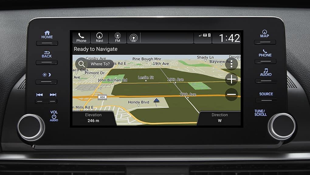 Available Honda Satellite Linked Navigation System™.