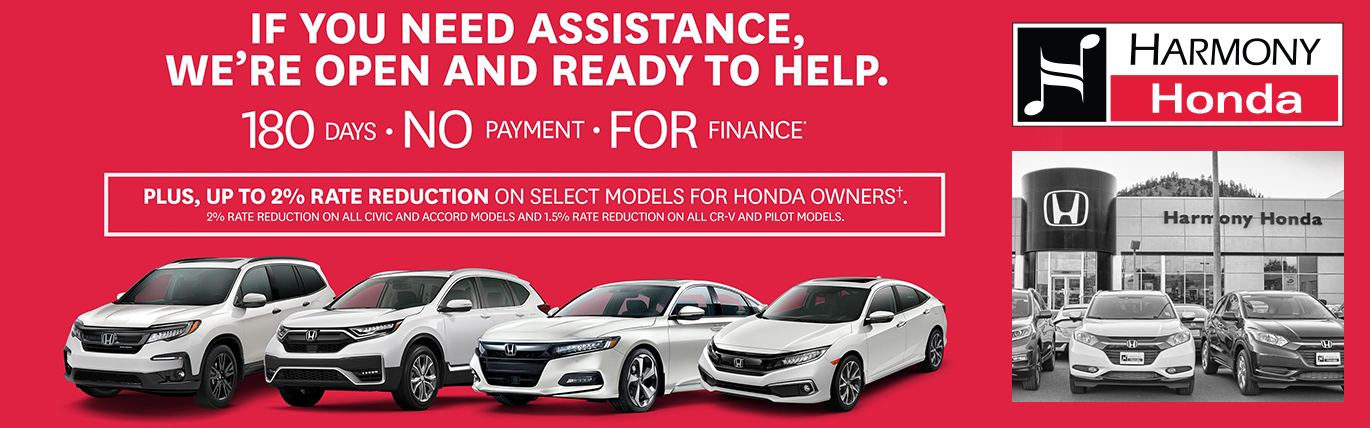 Honda 180 day finance payment deferral