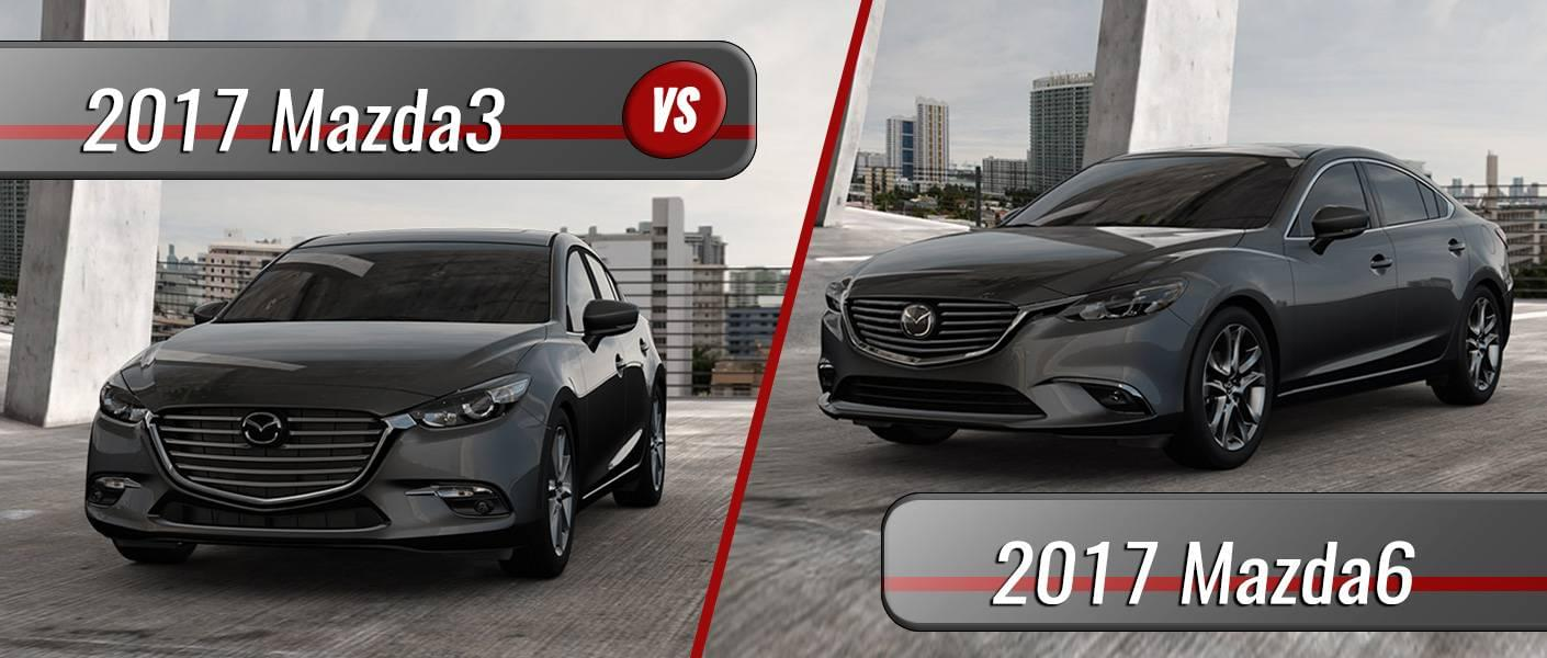 2017 Mazda3 vs. 2017 Mazda6 in Clermont FL