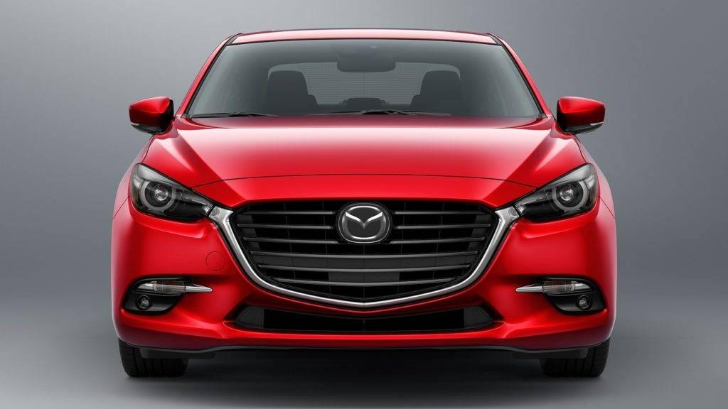 Red 2017 Mazda3 front fascia