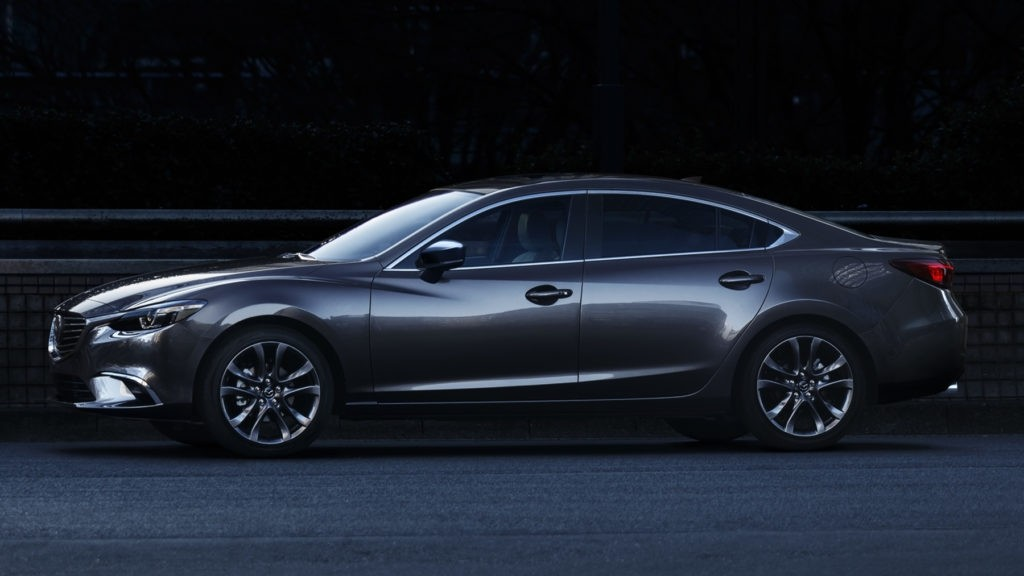 2017 Mazda6 silhouette against the road