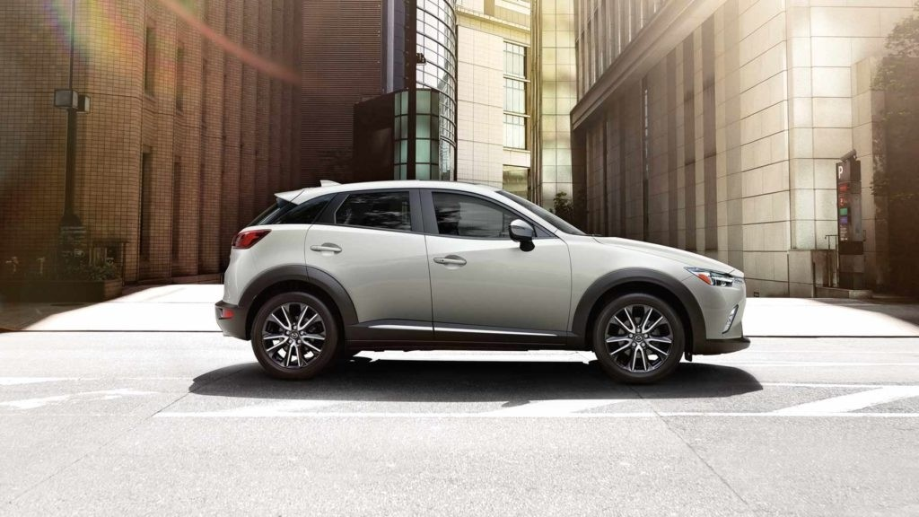 2017 Mazda CX-3 driving through the city streets