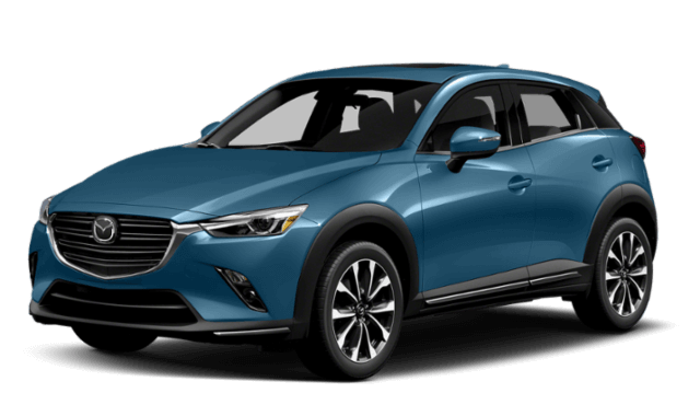blue 2019 Mazda CX-3 SUV