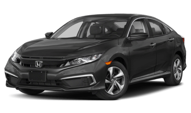 2019 Honda Civic black sedan front view