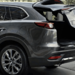 2020 CX-9 with open trunk showing cargo space