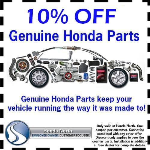 10% Off Genuine Honda Parts