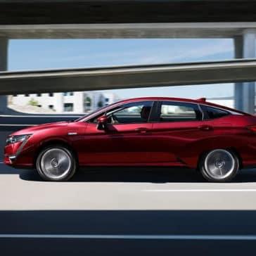 2018 Honda Clarity Plug-In Hybrid red exterior