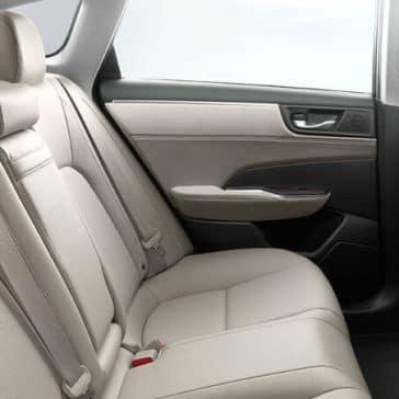 2018 Honda Clarity Plug-In Hybrid back interior