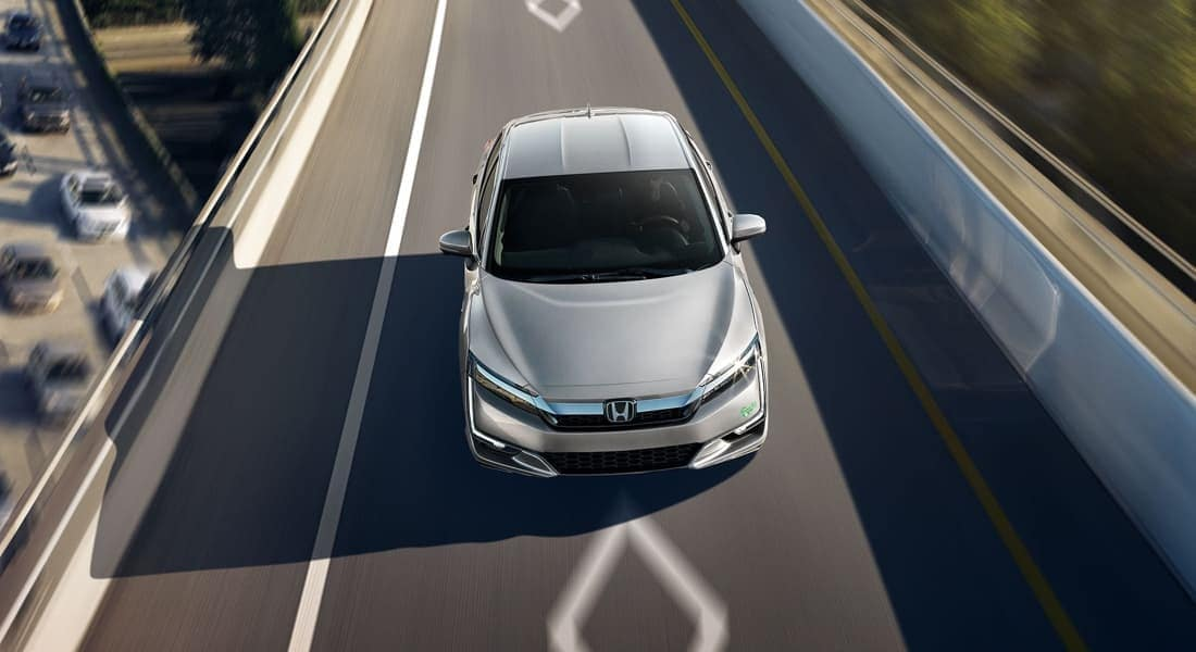 2018 Honda Clarity Plug-In Hybrid on the road