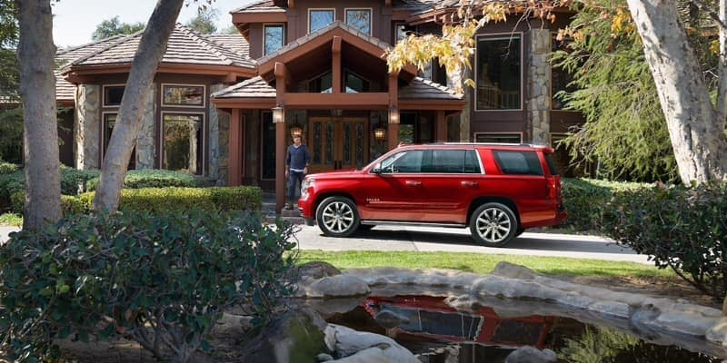 2018 Chevrolet Tahoe red exterior