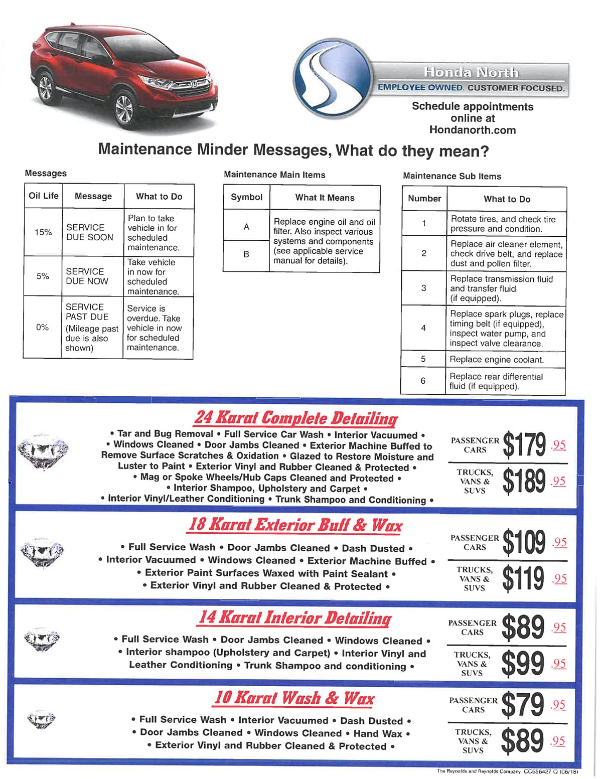 Schedule Service · Honda North