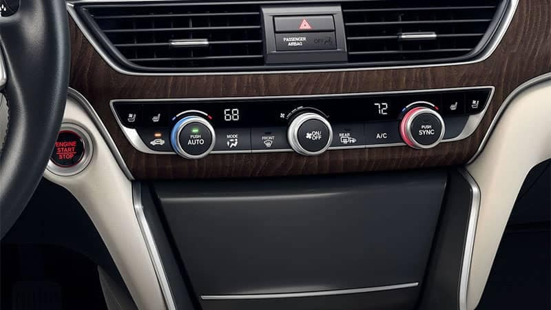 2019 Honda Accord Automatic Climate Control