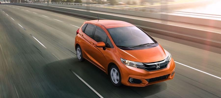 2019 Honda Fit on the road