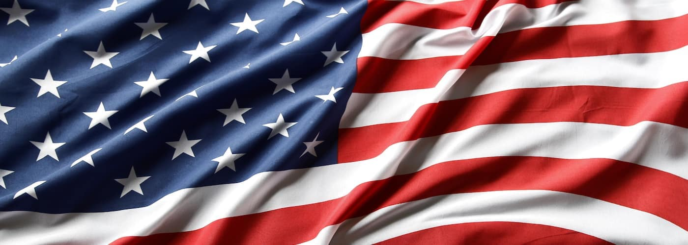 Crumpled American Flag