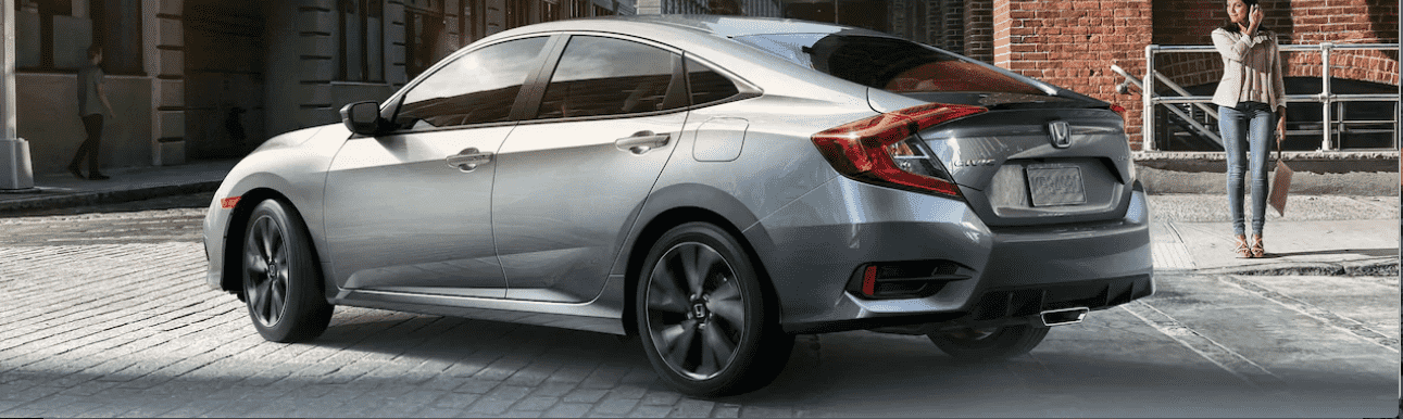 Silver Honda Civic from the Side