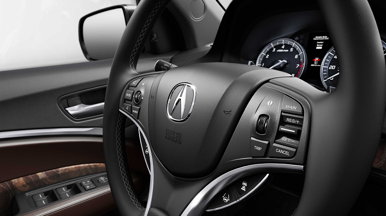 2017 Acura MDX Steering Wheel-Mounted Controls