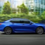 2018 Acura TLX Exterior Side Profile Blue