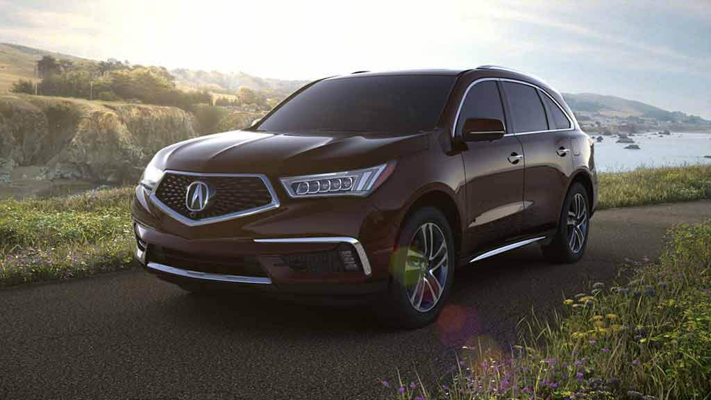 2018 Acura MDX Exterior Front Angle Driver Side