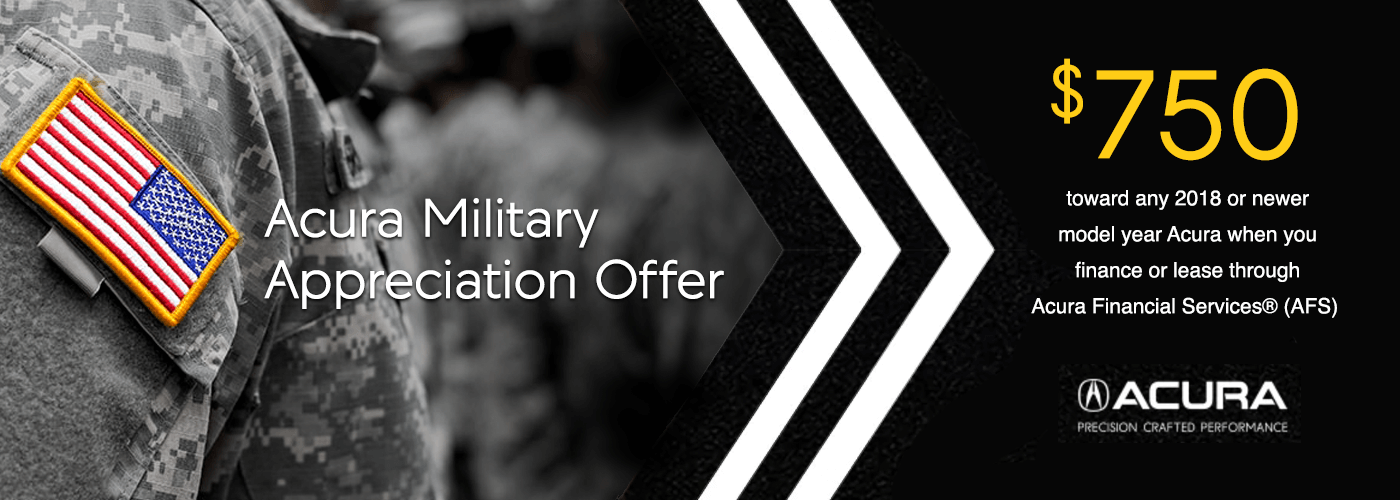 2018 Acura Military Appreciation Offer from Houston Acura Dealers