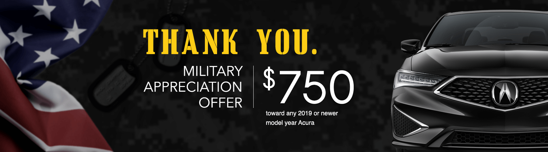 2019 Acura Military Appreciation Offer Slider