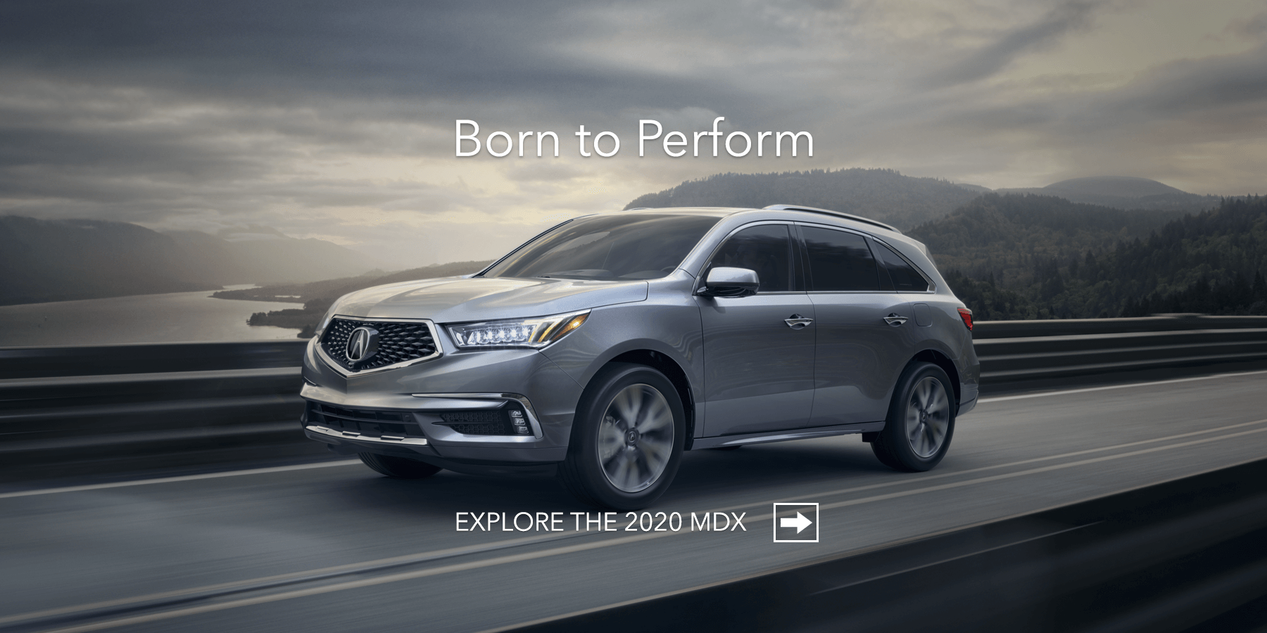 2020 Acura MDX Exterior Front Angle Driver Side Bridge HP Slide