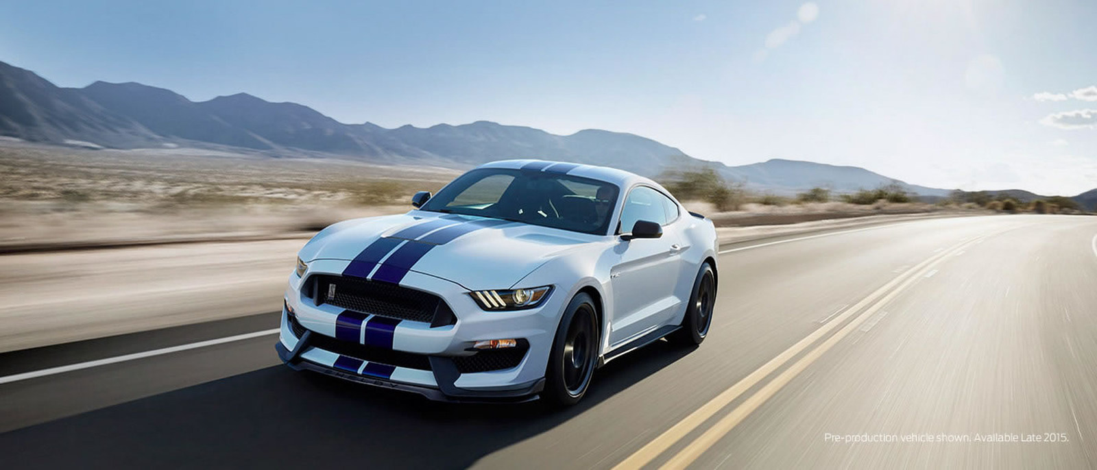 2015 Ford Mustang on road