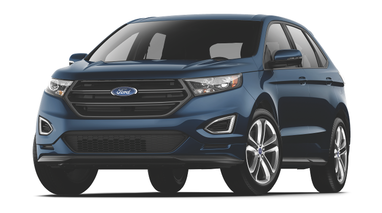 A blue Ford Edge sport on a transparent background