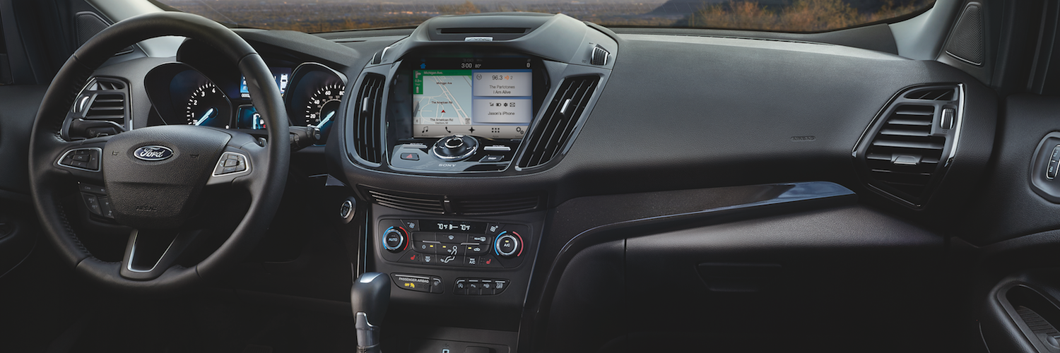 The dashboard of the Ford Escape with Sync System