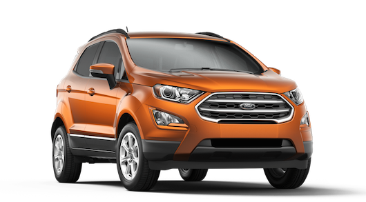 An orange Ford EcoSport