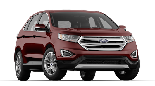 A burgandy velvet Ford Edge