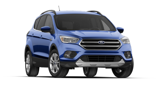 A blue 2018 Ford Escape