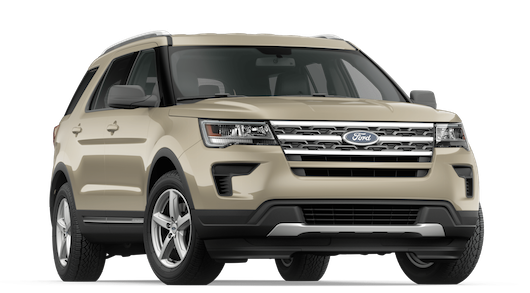 A gold 2018 Ford Explorer