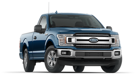 A blue 2018 Ford F-150