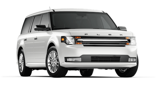 A white 2018 Ford Flex