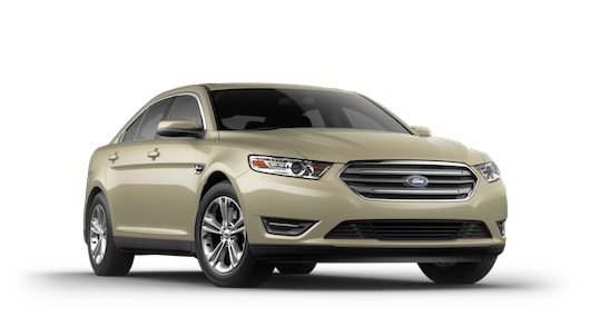 A gold 2018 Ford Taurus
