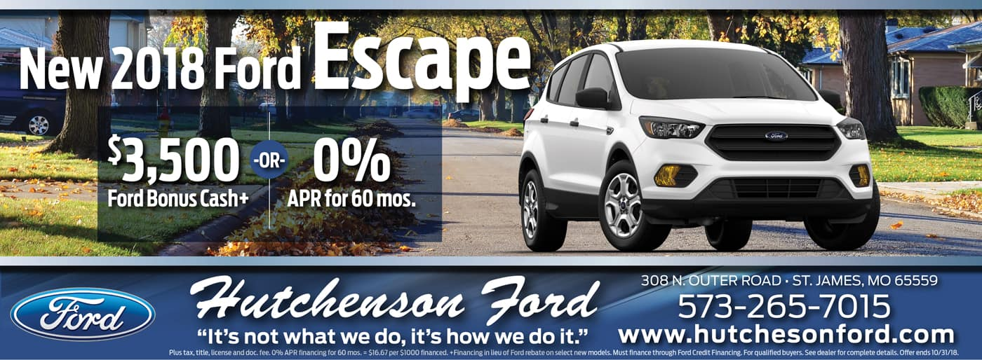 New 2018 Ford Escape Offers