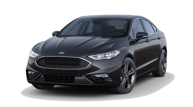 A 2019 Ford Fusion V6 Sport in Agate Black