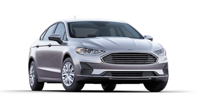A 2019 Ford Fusion S on a transparent background