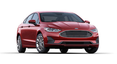 A 2019 Ford Fusion SE on a transparent background