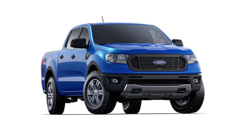 A blue 2019 Ford Ranger XL