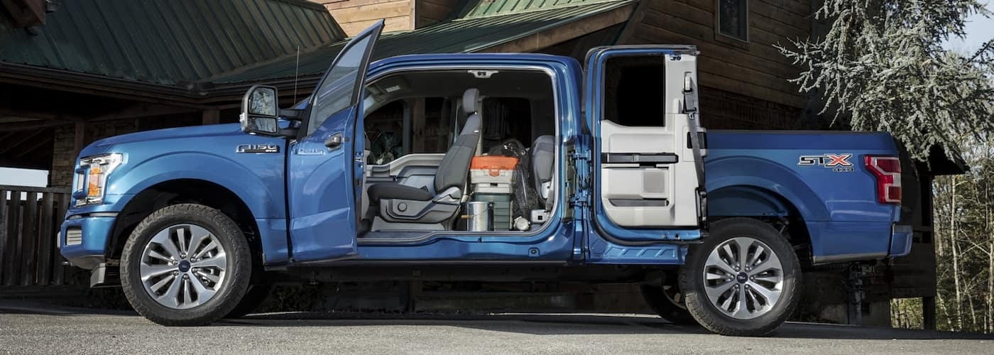 2020 Ford F-150 with Doors Open